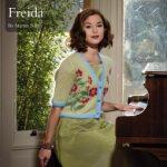 Freida afloral  intarsia free cardigan knitting pattern