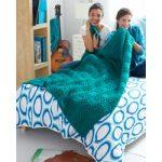 Garter Blocks Blanket Free Intermediate Knit Pattern