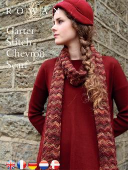 Garter Stitch Chevron Scarf Free Knit Pattern