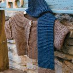 Garter stitch baby jacket free knit pattern
