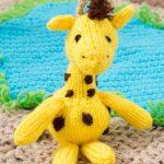 Georgie Giraffe Free Toy Knitting Pattern