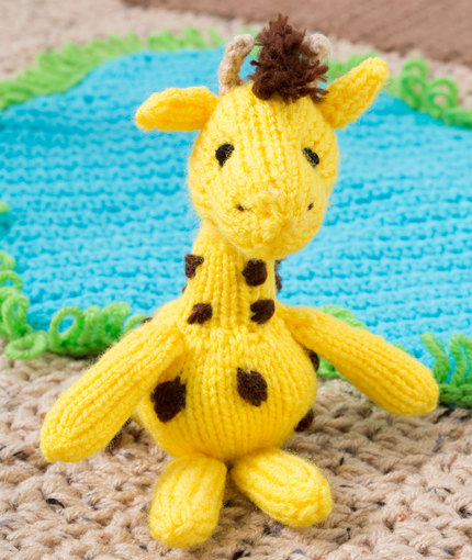 Georgie Giraffe Free Toy Knitting Pattern