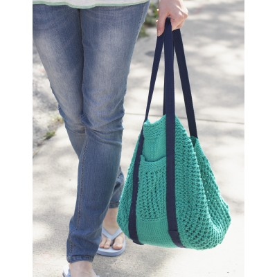 Go Green Market Bag free Knitting Pattern