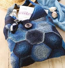 Haute Hexagons Free Bag Knitting Pattern