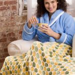 Honeycomb Throw Free Intermediate Knitting Pattern