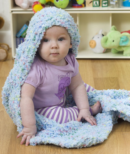 Hooded Baby Blanket Free Knit Pattern