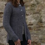 Hortensia Simple Garter Cardigan Free Knitting Pattern
