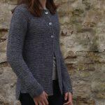 Hortensia Simple Garter Cardigan Free Knitting Pattern