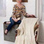 Isle of Aran Throw Free Knitting Pattern