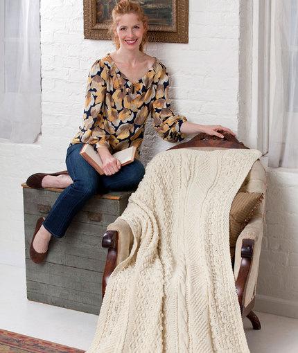 isle-of-aran-throw-free-knitting-pattern