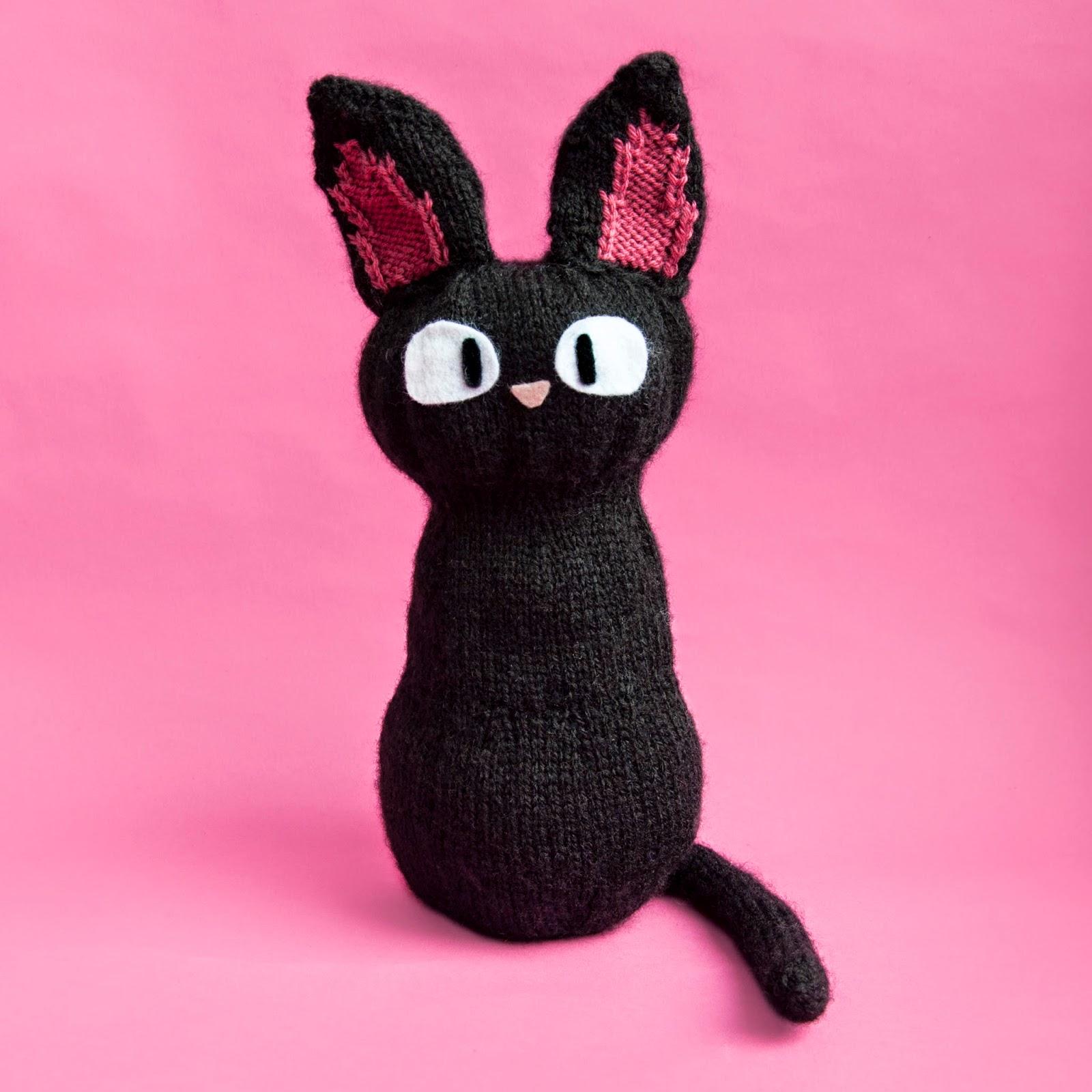 Jiji the Cat Free Toy Knitting Pattern ⋆ Knitting Bee