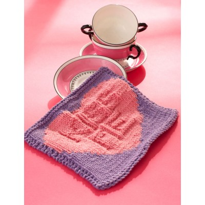 Kiss Me Candy Dishcloth Free Knitting Pattern