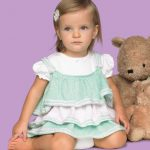 Knit Baby Ruffles Dress Free Pattern