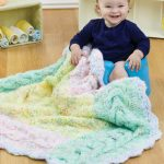 Knit Cable-Border Blanket for Baby Free Knit Pattern
