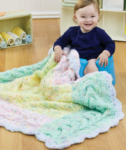 knit-cable-border-blanket-for-baby-free-knit-pattern