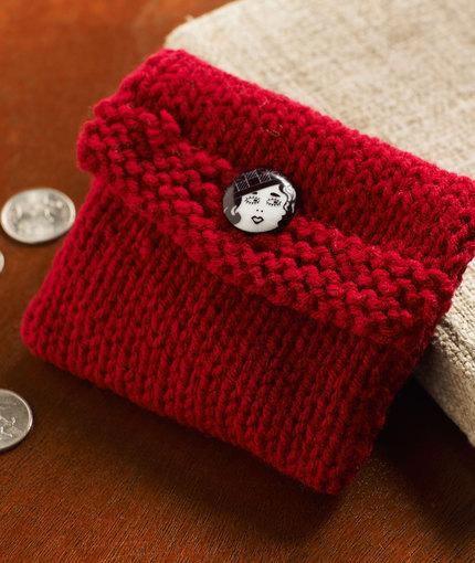 Knit Change Purse Free Knitting Pattern