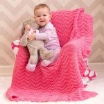 Knit Chevron Baby Blanket Free Pattern
