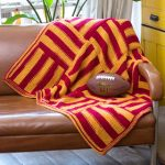 Knit Stadium Lapghan Free Knitting Pattern