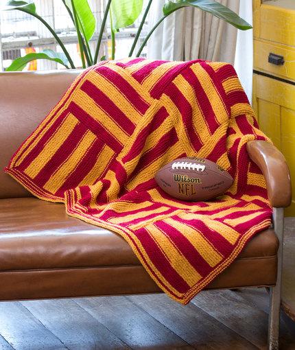 Knit Stadium Lapghan Free Knitting Pattern