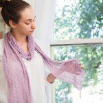 Lace 1, 2, 3 free scarf knitting pattern