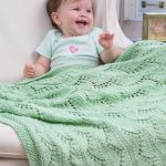 Lace Chevrons Baby Blanket Free Pattern