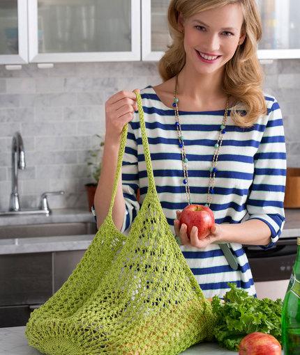Lacy Knit Market Bag