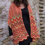 Large ripple stitch scarf knitting pattern free