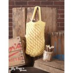 Lattice Lace Market Bag Free Knitting Pattern