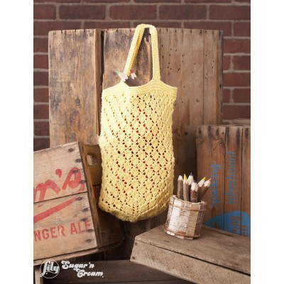 Lattice Lace Market Bag Free Knitting Pattern