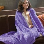 Lavender & Lace Throw Free Knitting Pattern