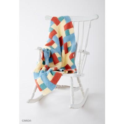 Log Cabin Baby Blanket Free Easy Knit Pattern