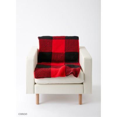 Lumberjack Free Easy Blanket Knit Pattern Knitting Bee