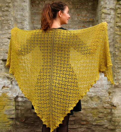 Morgenfryd Large Lace Shawl Knit Pattern Knitting Bee
