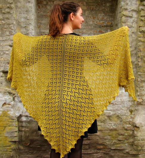 Morgenfryd Large Lace Shawl Knit Pattern