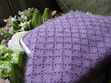 Beaded Purse Free Knitting Pattern