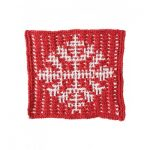 Mosaic Snowflake Dishcloth Free Knitting Pattern