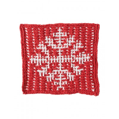 Mosaic Snowflake Dishcloth Free Knitting Pattern Knitting Bee