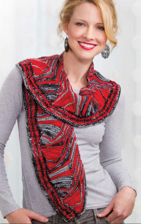 Mulitdirectional Scarf Pattern Free
