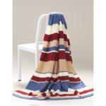 Nantucket Striped Afghan Free Knitting Pattern