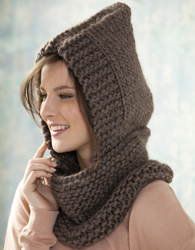 Neck Warmer with Hood Free Knitting Pattern