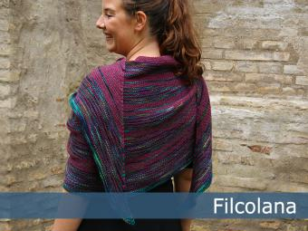 Olilia - Garter Stitch, Striped Shawl Free Knitting Pattern 1