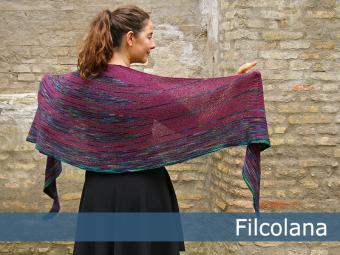 Olilia - Garter Stitch, Striped Shawl Free Knitting Pattern