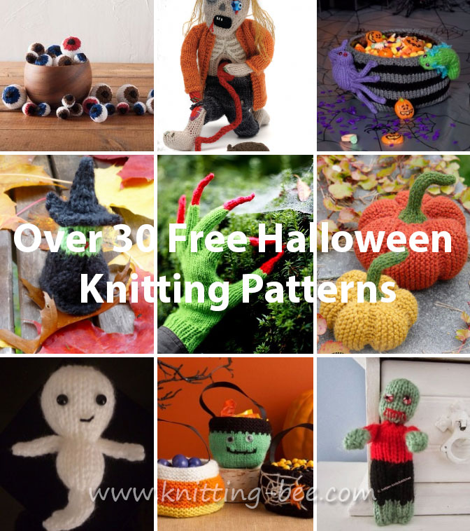 over 30 free halloween knitting patterns - Free Halloween Knitting Patterns