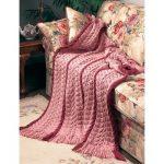 Patons Falling Leaves Free Intermediate Afghan Knit Pattern