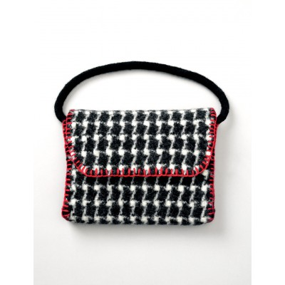 Patons Felted Houndstooth Bag Free Knitting Pattern