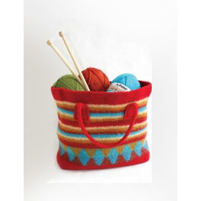 Patons Felted Striped Shopping Bag