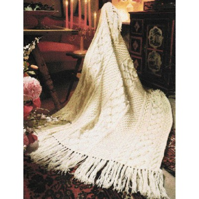 Patons Fisherman Knit Free Intermediate Afghan Pattern Knitting Bee