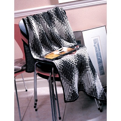 Patons Harlequin Texture Free Easy Afghan Knit Pattern ⋆ Knitting Bee