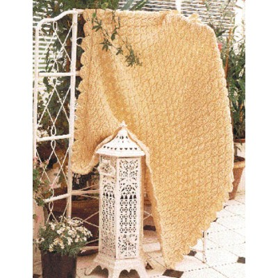 Patons Lacy Leaf Free Easy Afghan Knit Pattern Knitting Bee
