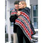 Patons Nordic Lap Blanket Free Knitting Pattern